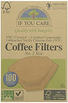 If You Care Coffee Filter No. 2 Size, Compostable, Unbleached, 100-count
