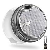 Mini Outdoor Fahrrad Lautsprecher Bluetooth 5.0, Klein Travel Musikbox Tragbare Sport Lautsprecher, Unterstützt USB/TF/Aux/SD-Karte für Strand Bergsteigen Reisen Sport Campen von VENNERLI (Grau)