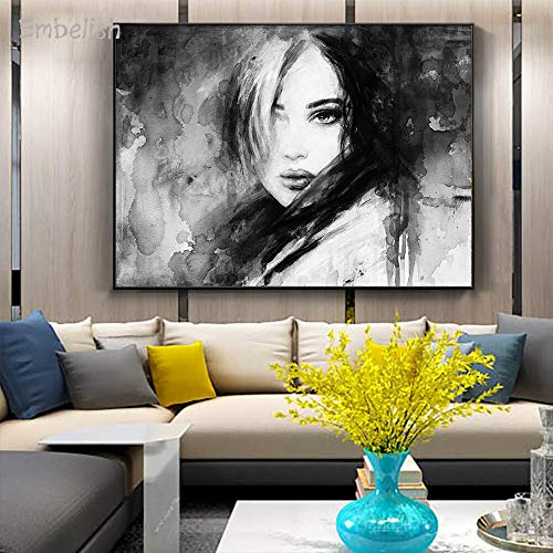 Frameloze olieverfschilderij Embelish Hd druk op canvas NGS Loner Mooie vrouw Moderne wooncultuur foto's slaapkamer muurkunst Lar