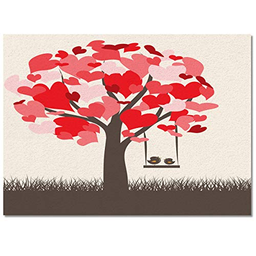 Big buy store Indoor Area Rugs Valentine's Day Non-Slip Rectangular Carpet Heart Tree Swing Soft Floor Mat for Living Room Bedroom Kids Room Kitchen Home Decor -4'x6'