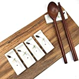 The Elixir Deco Premium Handmade Ceramic Spoon and Chopstick Rest, Fork Knife Holder Stand Dinner Table Decoration, Made in Korea