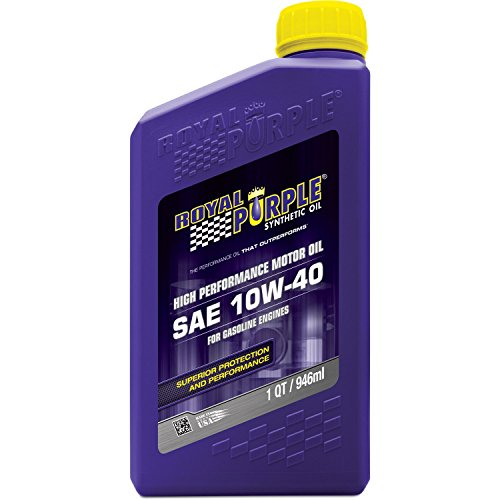 Royal Purple 01140 API-Licensed SAE 10W-40 High Performance Synthetic Motor Oil - 1 qt.