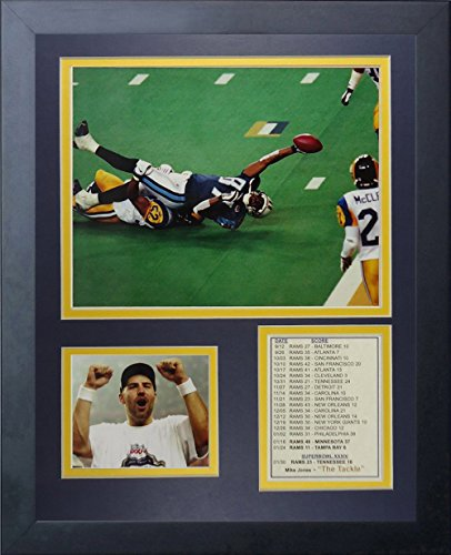 "1999 St. Louis Rams Champions - The Tackle 11"" x 14"" Framed Photo Collage by Legends Never Die, Inc."