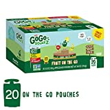 GoGo squeeZ Applesauce on the Go, Variety Pack (Apple Apple/Apple Banana/Apple Strawberry), 3.2 Ounce (20...