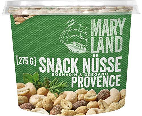 Maryland Snack-Nüsse Provence Style Nussmischung Nussmix Becher Snack mediterran gewürzt vegan, 275g
