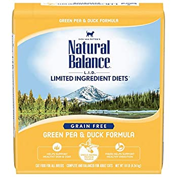 Natural Balance L.I.D Limited Ingredient Diets Dry Cat Food Green Pea & Duck Formula 10 Pounds Grain Free