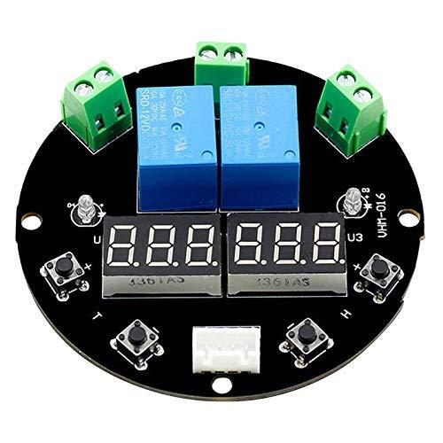 CAIJINJIN Módulo Display VHM-016 Termostato de Temperatura Control de Humedad Termómetro Controller higrómetro Módulo 12V LED Digital Salida de Dos