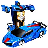 Niño RC eléctricos de juguete Transformers regalo 360deg;Rotación de coches 01:12 presente de cumpleaños grande gesto de Teledetección Inteligente control de la deformación Coches de sonido y las luce
