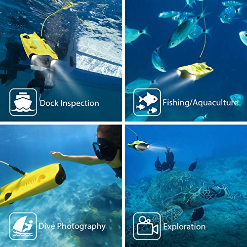 Mini Underwater Drone, 4K UHD Underwater Camera for Real Time Viewing, Remote Controller and APP Remote Control, Dive to 330ft, Live Stream, Adjustable Tilt-Lock, Fish Finder, ROV