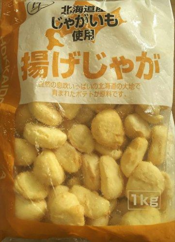 北海道 じゃがいも使用 揚げじゃが ( フライドポテト ) 1kg ( 約40個 ) アメリカンドッグタイプに仕上げた新しいフライドポテトです。