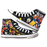 SevenLeo Zapatos Hombre Zapatillas Lona Zapatos Casuales Zapatos Mujer Bambas Zapatos De Niño Niña Adolescente Zapatillas Deporte Mujer Unisex My Hero Academia Anime Shoes 43