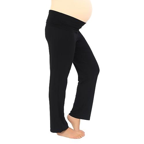 e24a171e6db Black Maternity Yoga Trouser Pants Regular 30