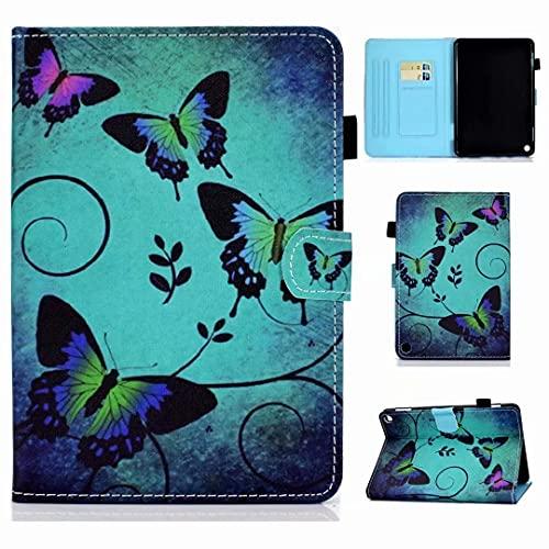 Hülle für Samsung Galaxy Tab S6 Lite 10.4 2020 Case,SM-P610/615, Premium PU Leder Stand Schutzhülle Case Cover mit Auto Aufwachen/Schlaf, Ultra Dünn Smart Magnetische Abdeckung Grüner Schmetterling