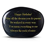 Cleaky Birthday Gift Happy Birthday! Always The Rock of Mine. Engraved Rock Birthday Gift for Men or Women