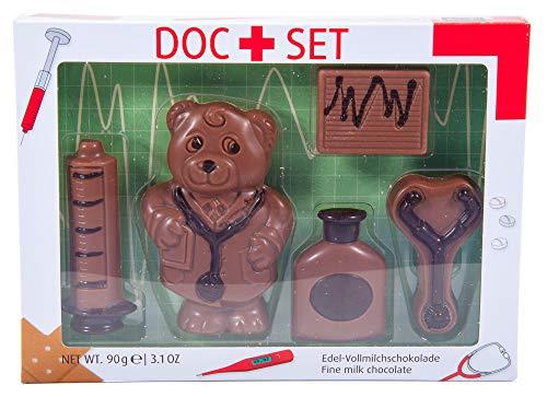 Gute Besserung - Schokolade zum Verschenken - Arzt Geschenkbox aus Edelvollmilch-Schokolade (90 g)