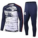 HPYR Chándal de entrenamiento de fútbol para hombre, de Rőd; camiseta de fútbol de manga larga, uniformes deportivos azul XXL