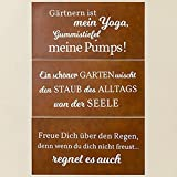 Metall Schild Rostoptik Gartensprüche 40x20cm Wandschmuck Gartendeko Tafel - 1
