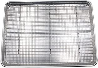 Checkered Chef Baking Sheet and Rack Set – Aluminum Cookie Sheet Tray/Half Sheet..