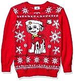 Nickelodeon Boys' Ugly Christmas Sweater, Marshall/Red, Small (6/7)