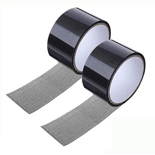 Boyigog 2 Pcs Cinta Adhesiva de Reparación de Pantalla, Puerta Cinta Adhesiva de Malla de Tela para Reparar mosquiteras Fibra de Vidrio Cinta Adhesiva (5x200 cm, Transparent Gray)