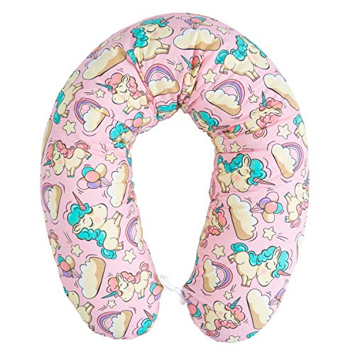 Pregnancy Pillow - Cuscino per allattamento con imbottitura, per dormire sul fianco, in cotone, con federa da 170 cm, motivo: unicorno