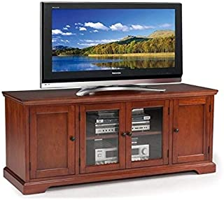 """BOWERY HILL Hardwood 60"""" TV Stand in Cherry"""