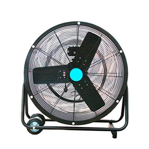 Ventiladores Industriales Ventilador de Tambor Industrial de Alta Velocidad/Ventilador de Piso de oscilación Gimnasio de enfriamiento portátil con Pedestal silencioso, 3 velocidades y Cabezal de v