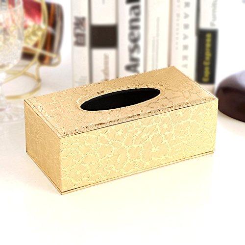 LLRY - Caja rectangular de papel de piel sintética para el hogar, oficina o...