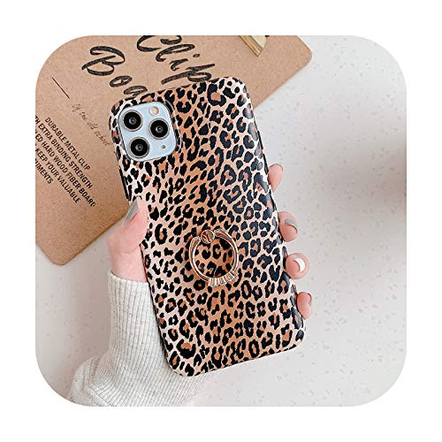 Phonecase - Carcasa para iPhone 12 Mini 12 11 Pro Max Xr X Xs Max 7 8 6 Plus con diseño de leopardo