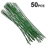 50pz verde canne di bastoncini di supporto per piante per fiori 60cm...