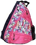 Glove It Pickleball Bag for Women, Ladies Sling Sports Bag for 6 Pickleball Paddles, Balls, Water Bottle Holder & Clip-On Shoe Bag, HEXY