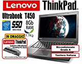 Notebook Ultrabook Lenovo ThinkPad T450 - Intel Core i5-5300U - RAM 8Gb - SSD...