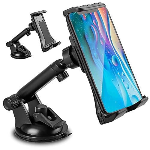 EEEKit Supporto Tablet per Auto, 360° di Rotazione Braccio Estensibile Cruscotto/Parabrezza Porta Cellulare da Auto con Ventosa Forte per Huawei Samsung Telefoni e Tablet iPhone/iPad(4-12 Pollici)