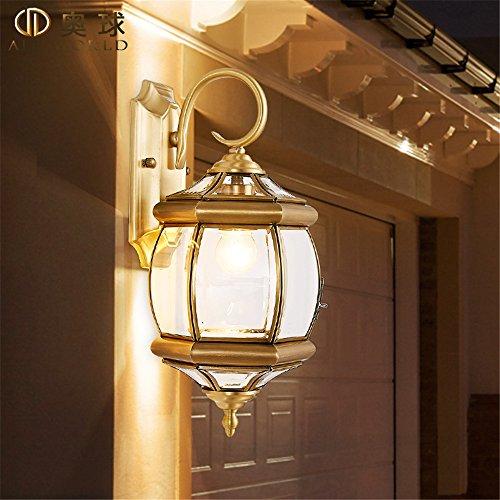 YU-K Moderne home gemonteerde messing muur outdoor muur waterdicht licht tijdschakelaar gang door de rijlampen werklampen Hotel Villa,18 * 38 cm