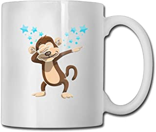 Funny Dubbing Monkey Coffee Mugs 11 Oz Novelty Gift Ceramic Tea Cup coffee cup 11oZ🏆, the perfect gift for family and friends 🎁