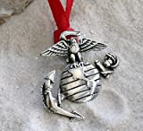Trilogy Jewelry Pewter USMC Marine Corps Insignia Semper Fi Christmas Ornament and Holiday Decoration