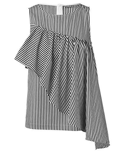 GULLIVER Blusentop Top Mädchen Bluse Grau mit Spitze Ärmellos 8-13 Jahre 134-164 cm