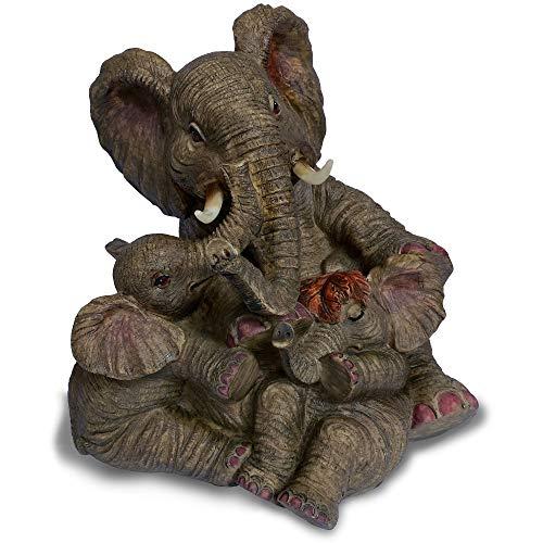 Objectz Skulptur Figur Elefanten Familie sitzend groß