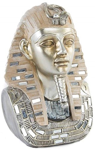 AVENUELAFAYETTE Figurine - Statuette - Buste Pharaon Toutankhamon Couleur Or - Egypte - 25 cm