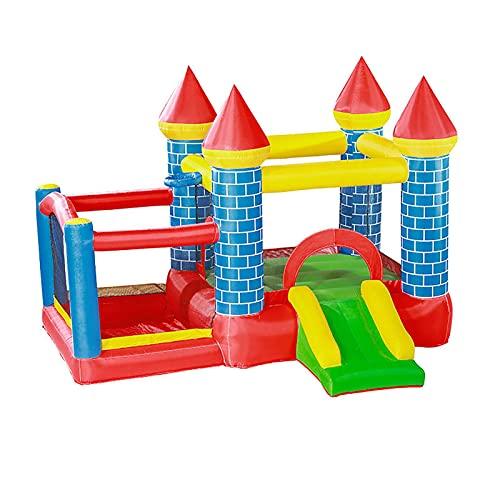 YQGOO Castillo Hinchable Inflable Castillo Inflable Cama de Salto Castillo para niños Tobogán para el hogar Trampolín Interior y Exterior para Patio de Juegos, 295X270X210cm,