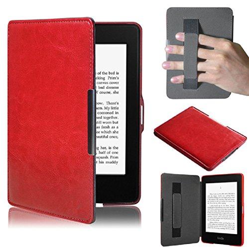 Kindle Paperwhite 5, Amison Smartshell Hülle Case Filz Sleeve für Amazon neue Kindle Paperwhite 5 (Rot)