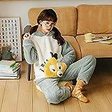 GenericBrands Pijamas PJ Set para Mujer Franela cálida Ropa de Dormir para Mujer Ropa de Dormir Ropa de Dormir Traje de pantalón térmico se Puede Usar en el Exterior -XL_60-65KG