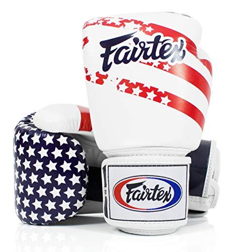 Fairtex Muay Thai Style Training Sparring Gloves (16 oz, USA)
