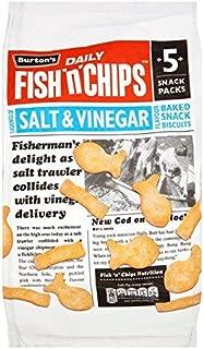 Burton's Fish & Chips Salt & Vinegar 25g x 5 per pack