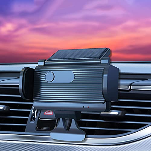 MTDBAOD Solar Powered Car Phone Mount, Car Air Outlet Mobile Phone Holder,Automatic Induction Type Mobile Phone Navigation Bracket,360° Rotation,for 4.5-6.5 Inch Mobile Phone