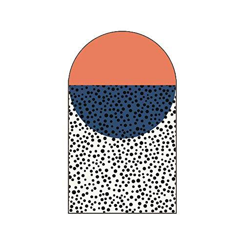 Alfombra Moderna con Arcos Irregulares Antideslizante Costura Geométrica Alfombras Sala Estar Alfombras Suaves Piso Dormitorio Decoración Hogar Alfombra Moda,Naranja,140 * 235CM