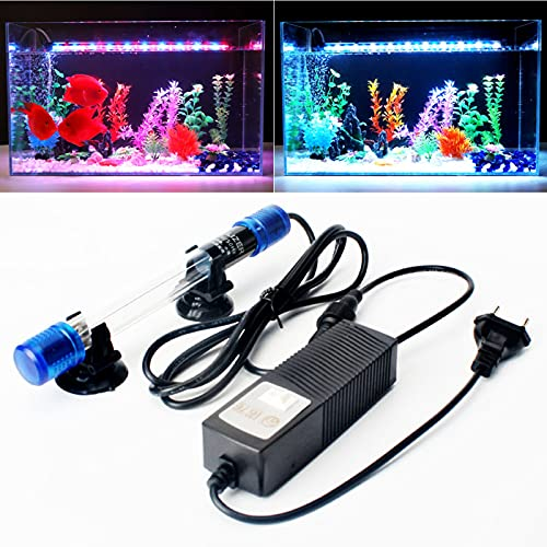 DriSubt Iluminación para acuarios, lámparas depuradoras UVC, purificador de algas, purificador de agua, limpieza de acuarios, piscinas, peceras, enchufe europeo (13 W)