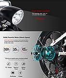 SAMEBIKE 20 Zoll Elektrofahrrad mit 350 W 48 V 10 Ah Lithiumbatterie Faltbares Elektrofahrrad E-Bike für Erwachsene (weiß) - 3