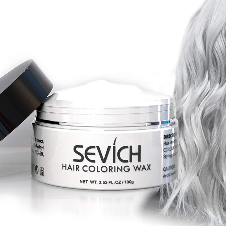 艦隊モス正規化カラーヘアワックス-セビッチヘアスタイル染料マッド、瞬時に自然な髪の色、洗える天然成分、一時的な100g / 3.57Ozホワイト