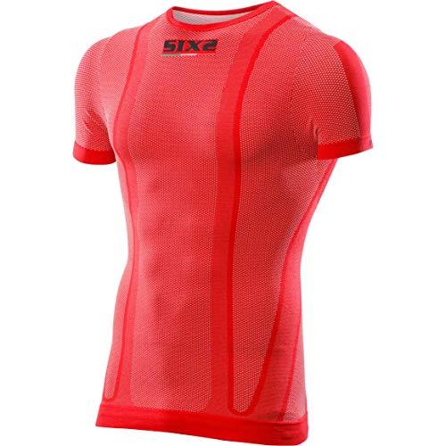 SIX2 T-Shirt MC Color Red-M, Unisex, für Erwachsene